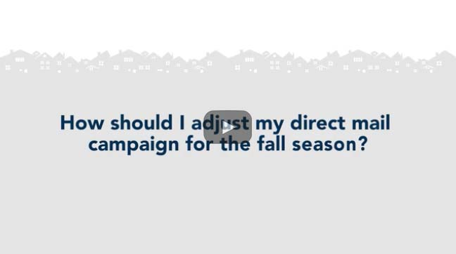 How to adjust your direct mail campaign for the fall season