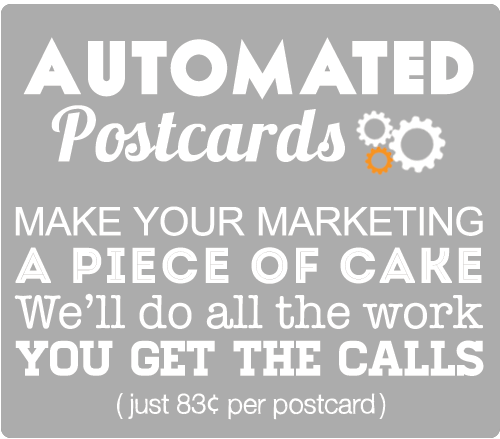 market your business with automated postcards