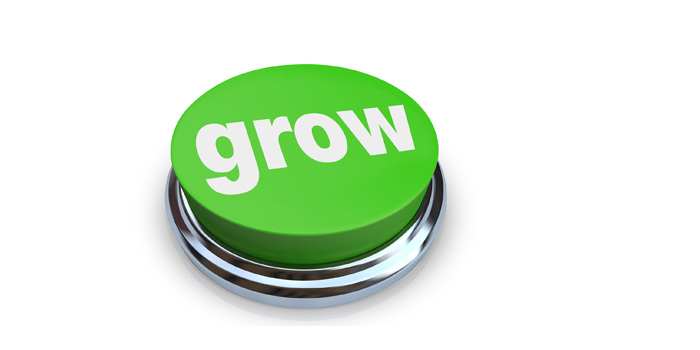 A grow button that is bright green